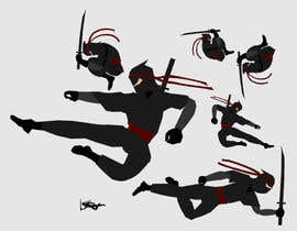 nº 9 pour Redesign ninja character and create 3 poses in vector par hugolazo