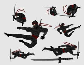 nº 13 pour Redesign ninja character and create 3 poses in vector par hugolazo