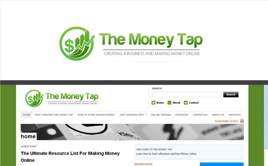 #111 for Design a Logo for my online Blog: The Money Tap by nabudhukka
