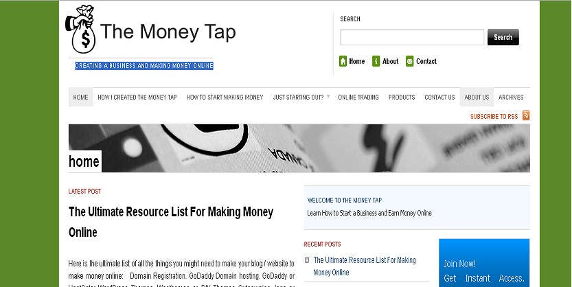 Penyertaan Peraduan #33 untuk Design a Logo for my online Blog: The Money Tap