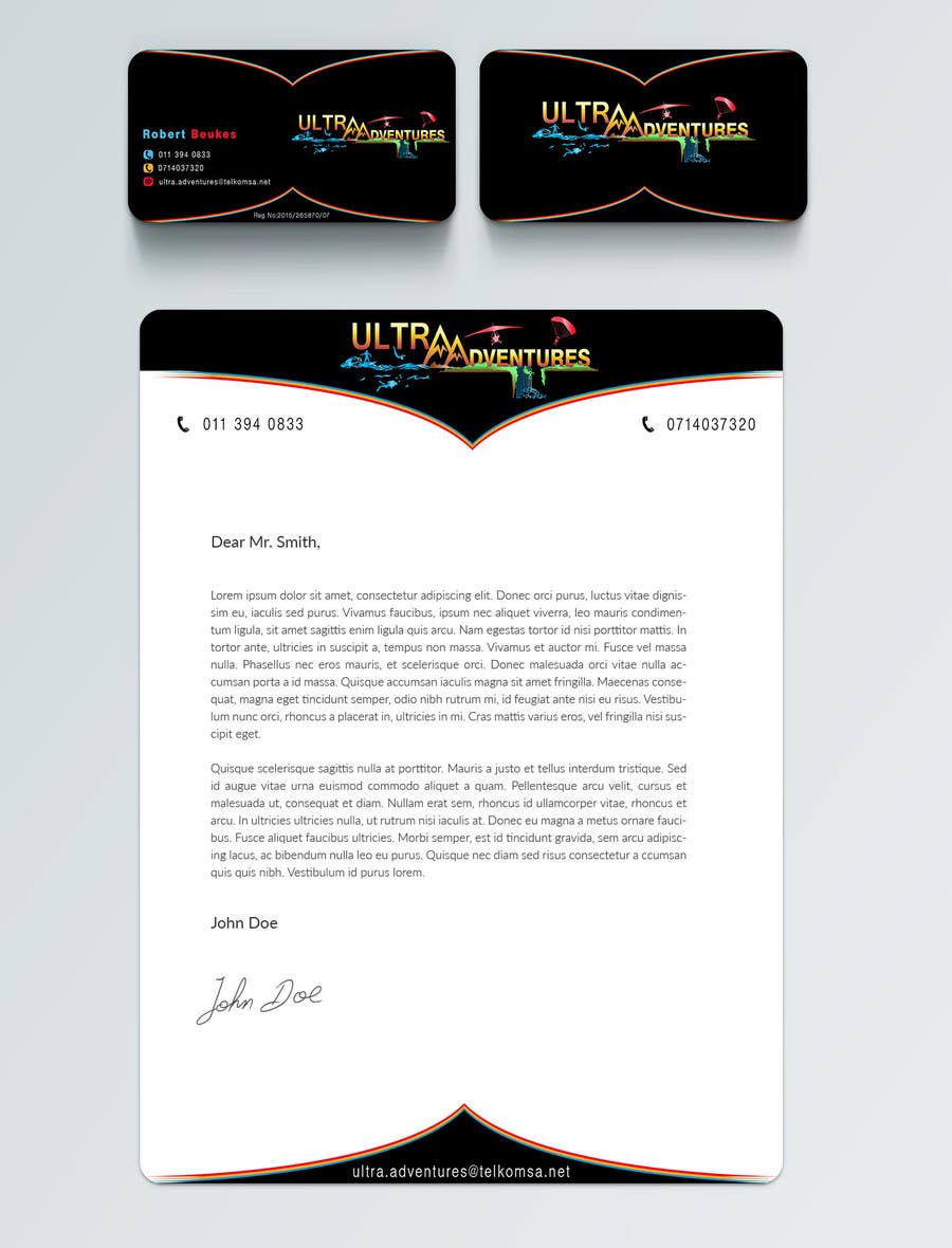 Entry #18 by adarshdk for Design a letterhead and Business