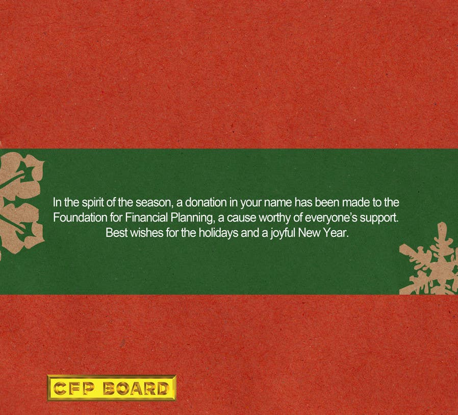 Contest Entry #                                        33                                      for                                         Graphic Design for A new holiday card project for the CFP Board