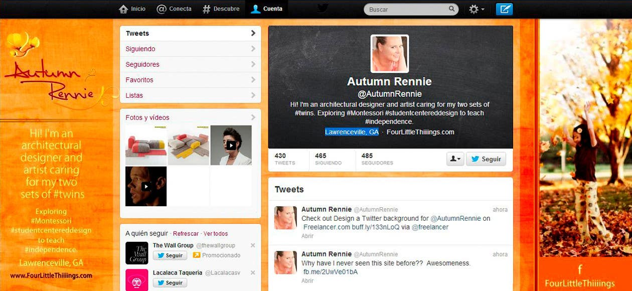 Bài tham dự cuộc thi #                                        4                                      cho                                         Design a Twitter background for @AutumnRennie