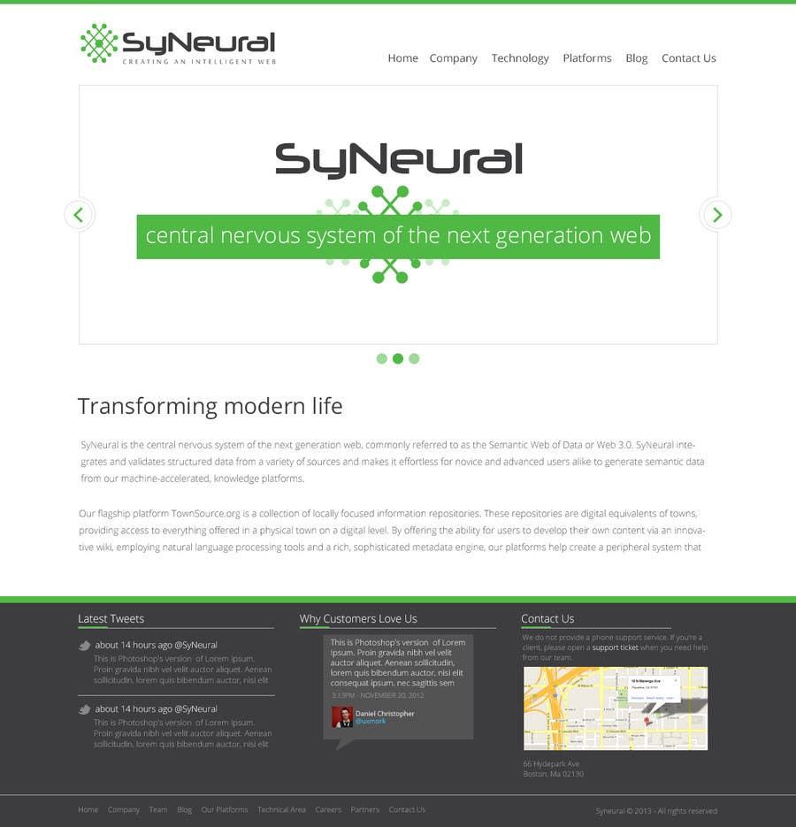 Inscrição nº 5 do Concurso para Design a Website Mockup for SyN