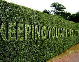 #17 cho I need some Graphic Design for a strapline cut in a hedge bởi Stevieyuki