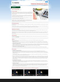#8 para Redesign Webpage for Articles por kreativeminds