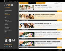 #6 para Redesign Webpage for Articles por ProliSoft