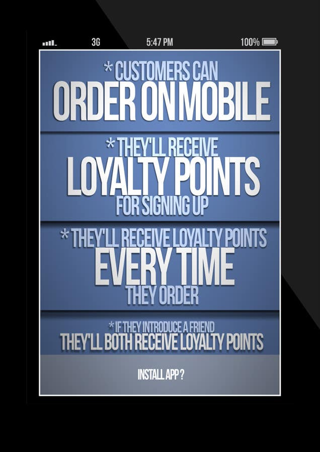 Penyertaan Peraduan #14 untuk Design a promotional poster for a mobile app and loyalty programme
