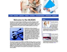 #21 for Design a Website Mockup for mlrems.org using henriettaambulance.org as design template by LuarWebDesign