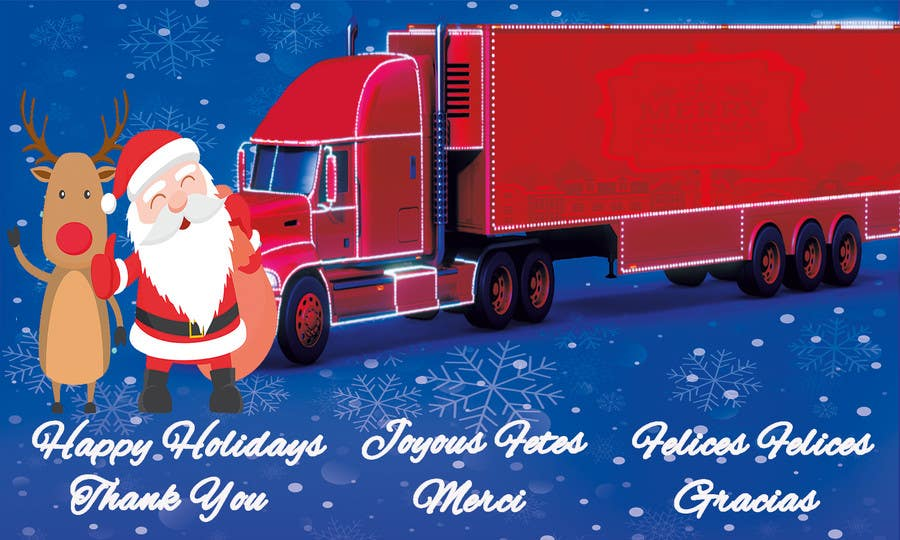 Entry #18 by laila82 for Trucking company Christmas card | Freelancer