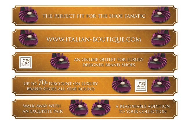 #15 for Disegnare un Banner for italian-boutique.com by pinkskyedesign