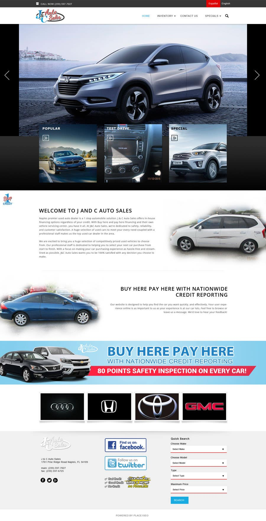 Entry 3 By Akminfo For Website Mock Up For Auto Dealer Of Used Cars