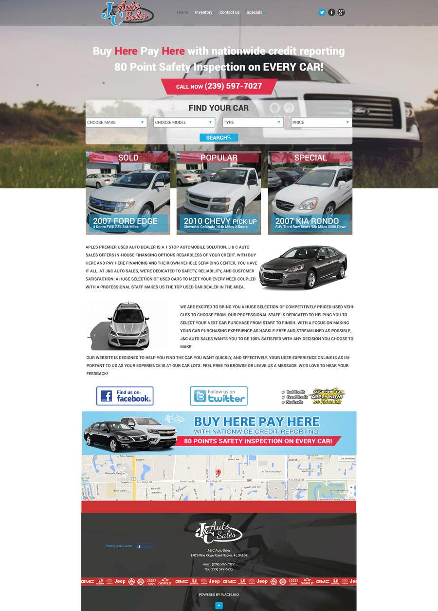 Entry 9 By Ahmed665 For Website Mock Up For Auto Dealer Of Used