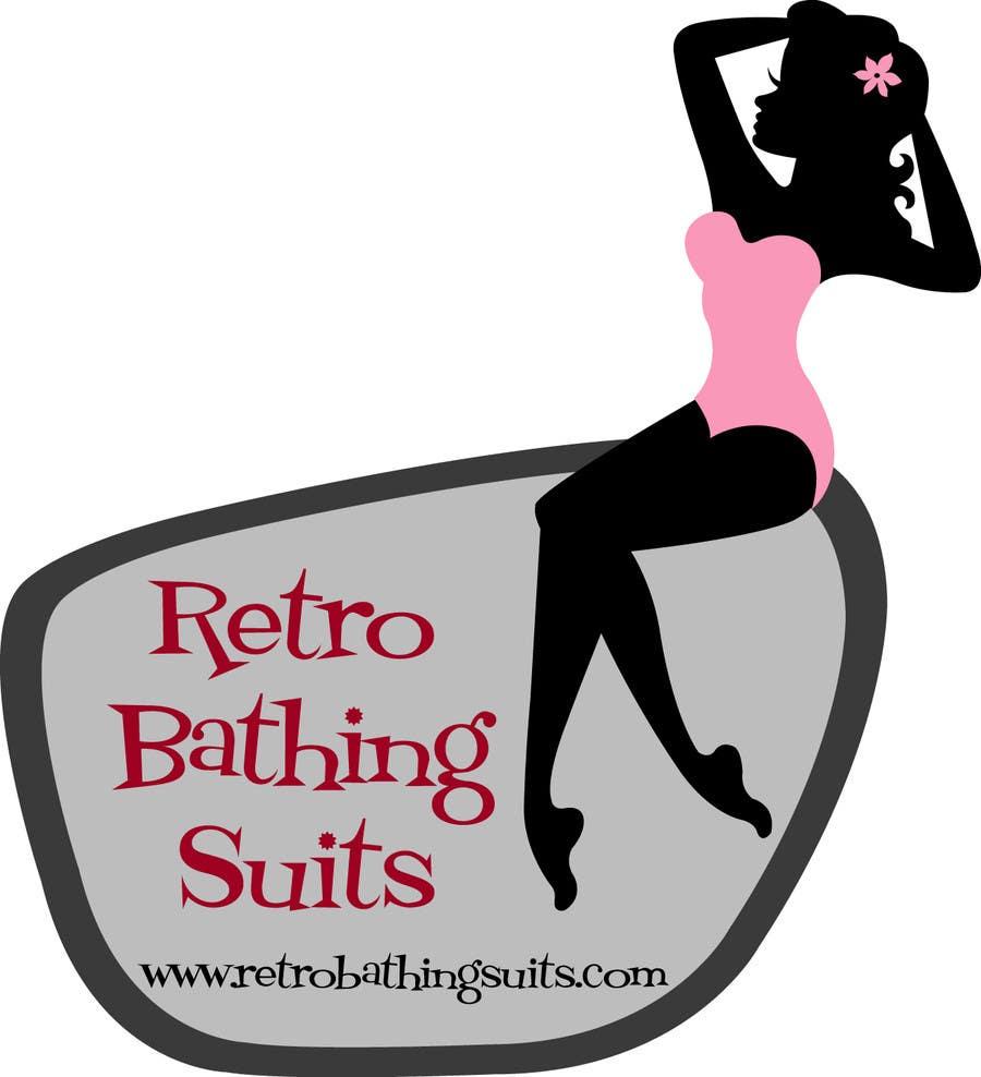 Bài tham dự cuộc thi #                                        8                                      cho                                         Design a Logo for Retro Bathing Suit website and print