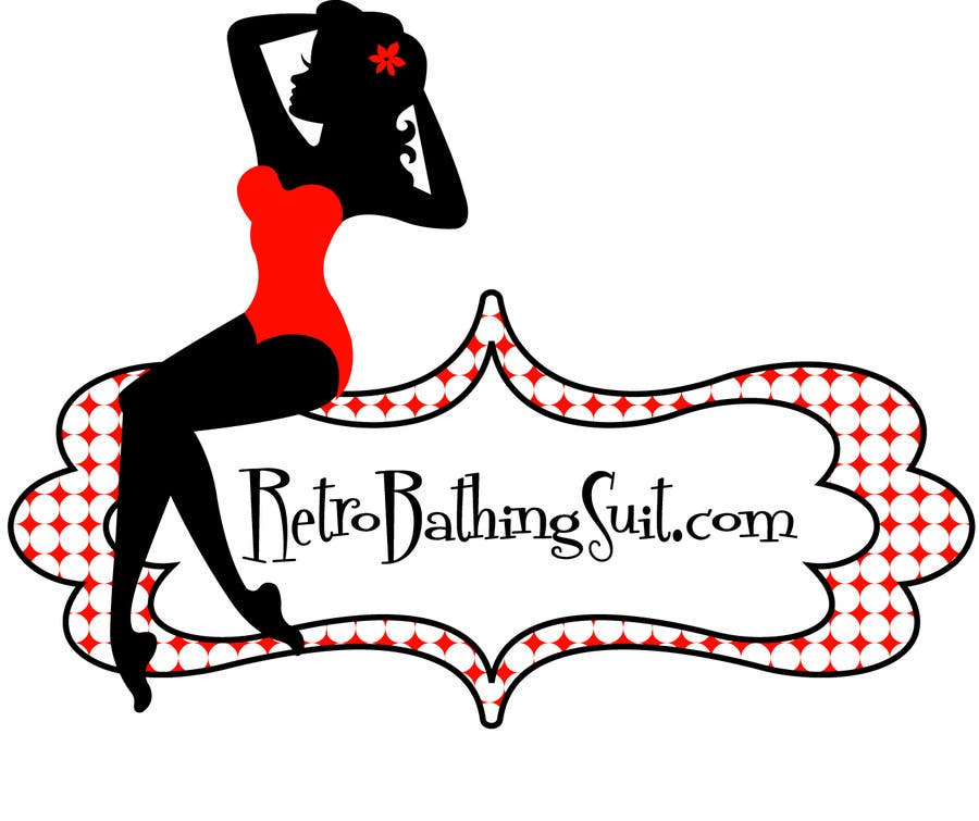 Bài tham dự cuộc thi #                                        19                                      cho                                         Design a Logo for Retro Bathing Suit website and print
