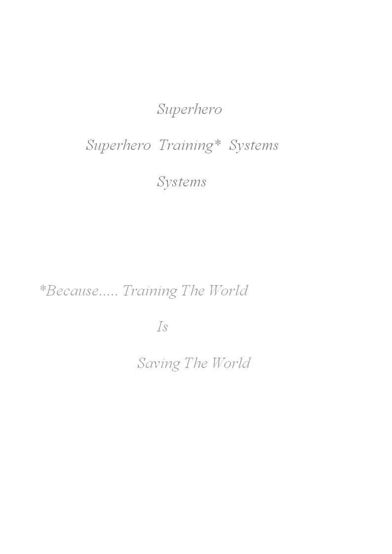 "#5 for Design a Logo for ""Superhero Training Systems"" by sbhardwaj92"