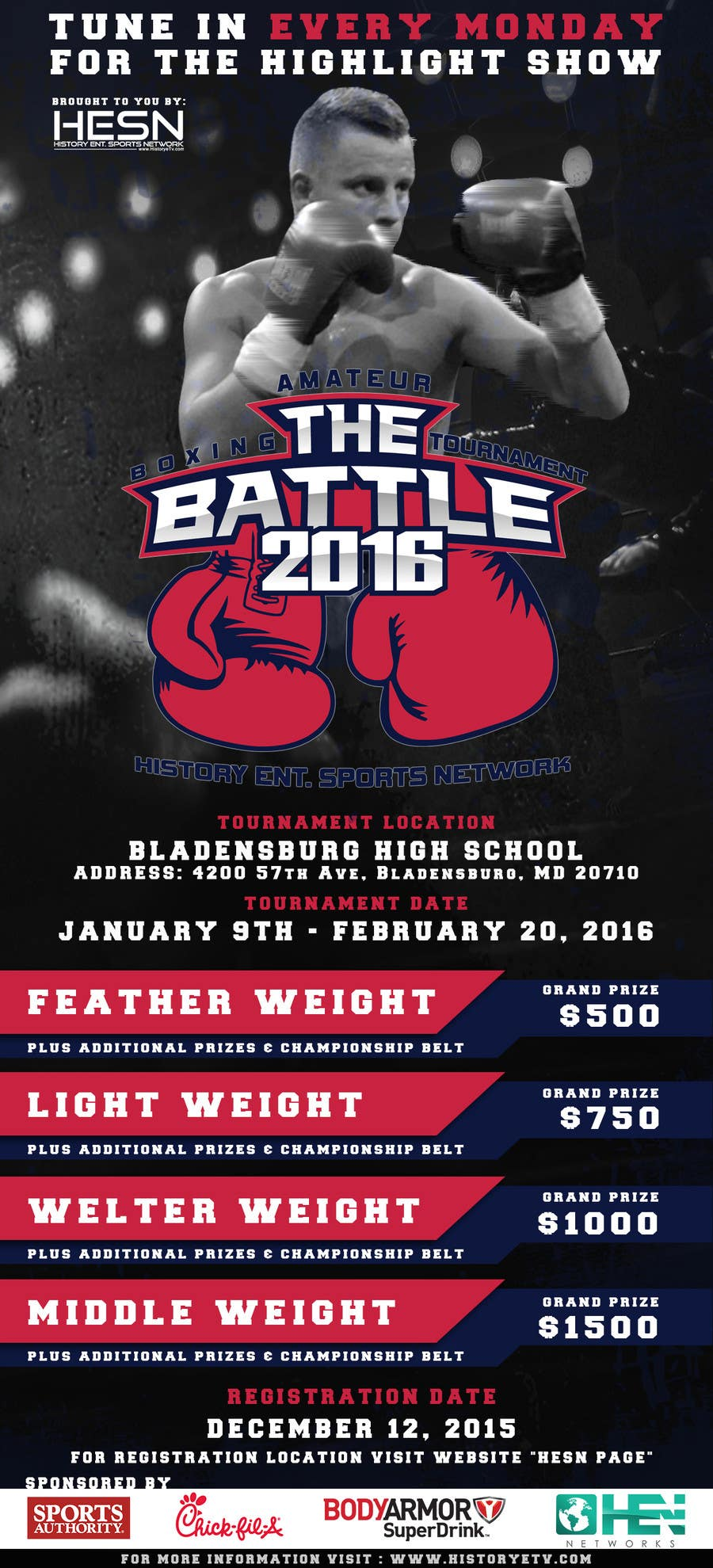 Contest Entry #                                        8                                      for                                         Design a Flyer for my Boxing tournament Easy money!