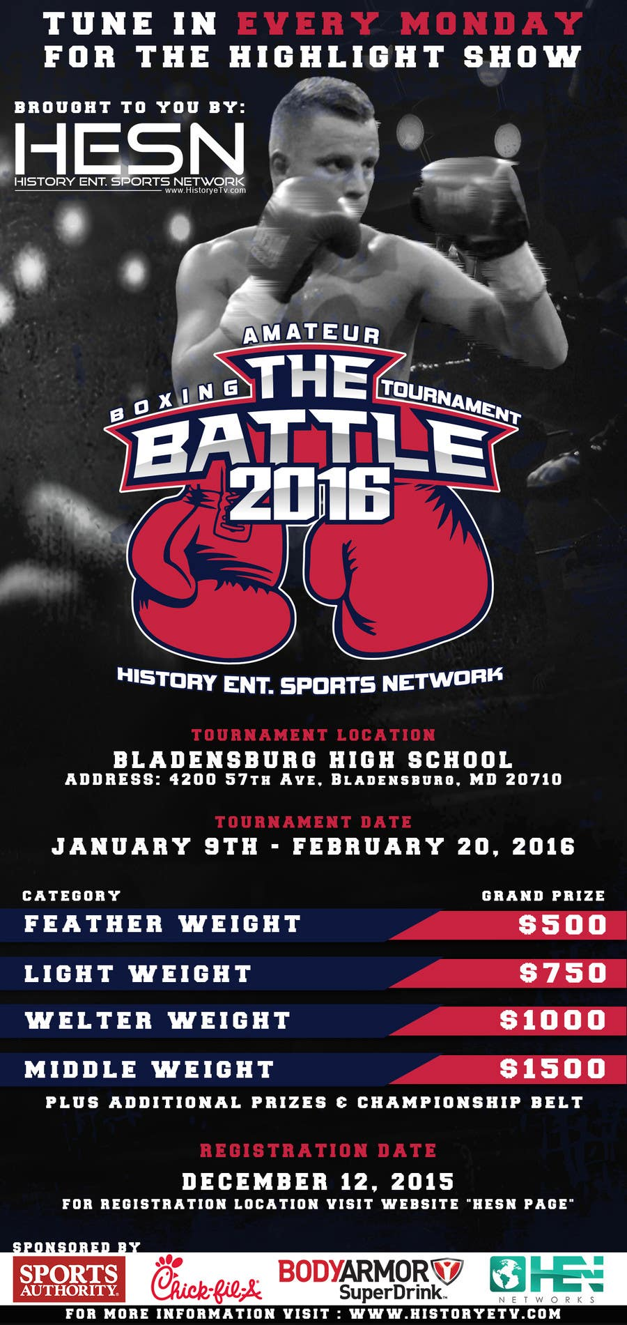 Contest Entry #                                        10                                      for                                         Design a Flyer for my Boxing tournament Easy money!