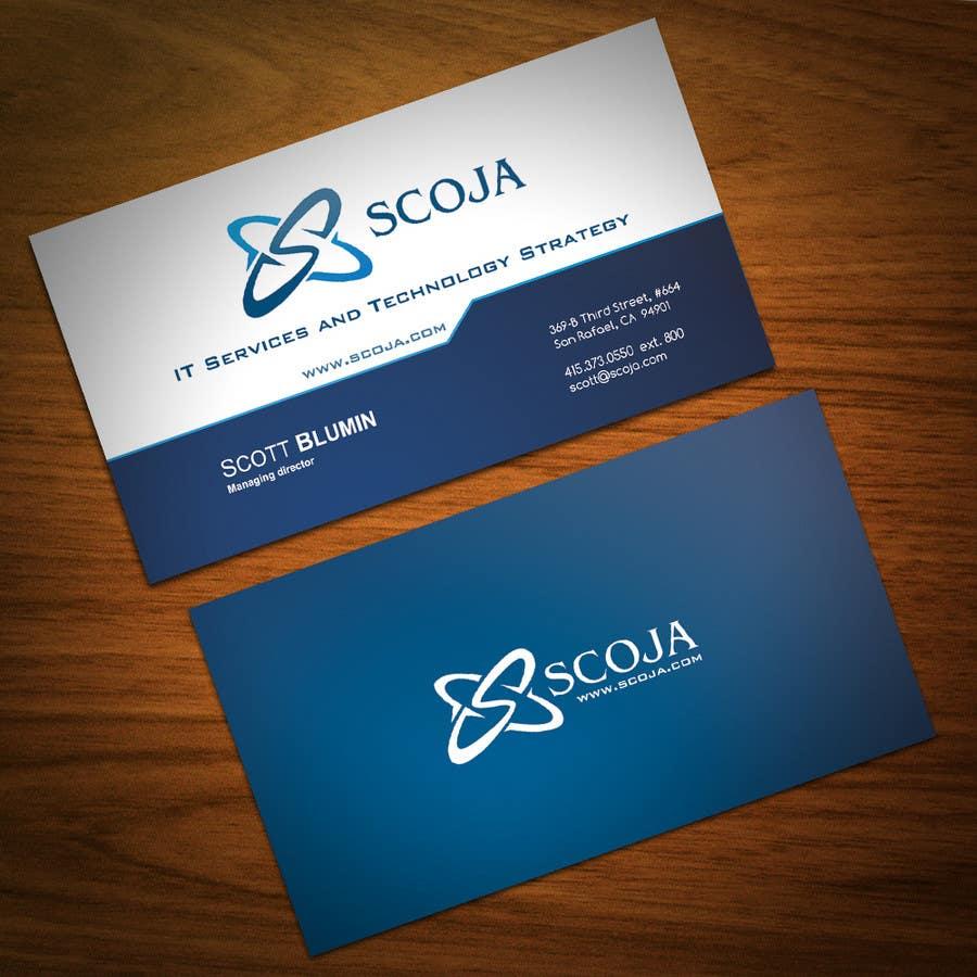 Bài tham dự cuộc thi #                                        347                                      cho                                         Business Card Design for SCOJA Technology Partners