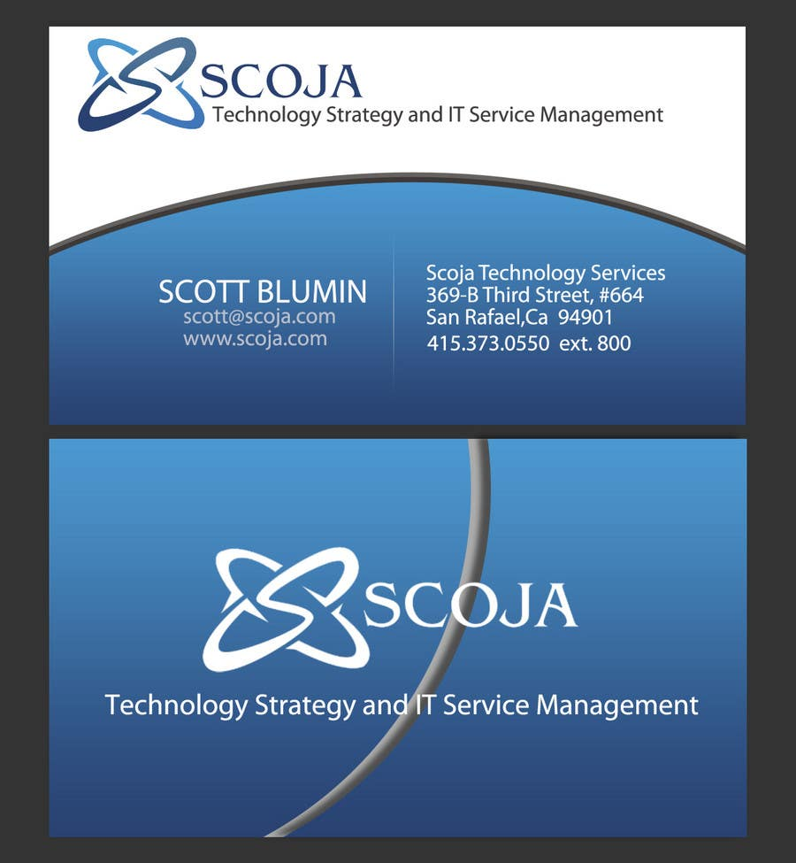 Konkurrenceindlæg #                                        391                                      for                                         Business Card Design for SCOJA Technology Partners