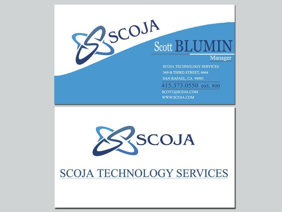 Konkurrenceindlæg #                                        22                                      for                                         Business Card Design for SCOJA Technology Partners