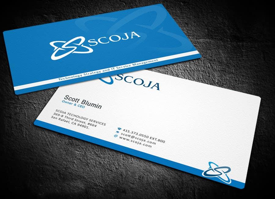Konkurrenceindlæg #                                        283                                      for                                         Business Card Design for SCOJA Technology Partners