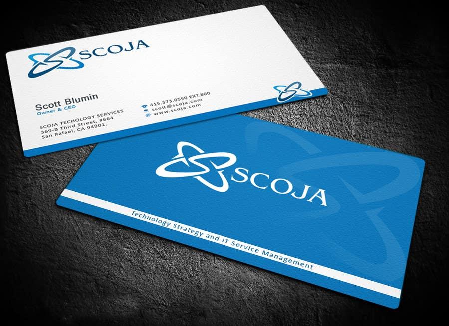 Konkurrenceindlæg #                                        281                                      for                                         Business Card Design for SCOJA Technology Partners