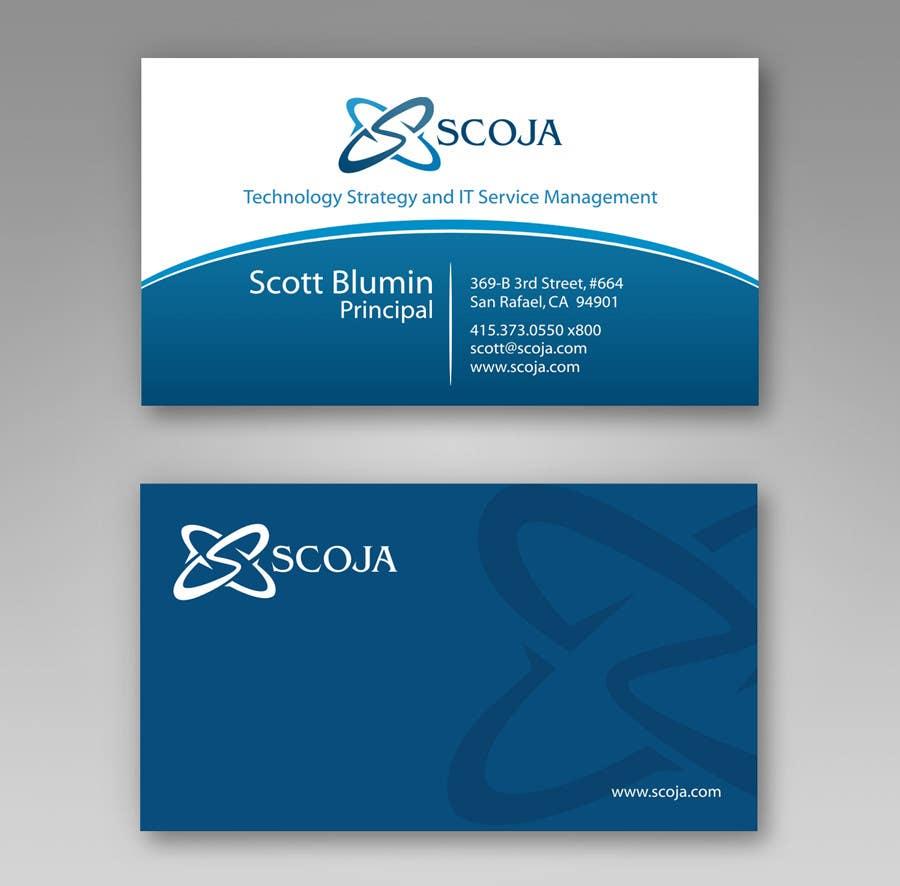 Konkurrenceindlæg #                                        362                                      for                                         Business Card Design for SCOJA Technology Partners