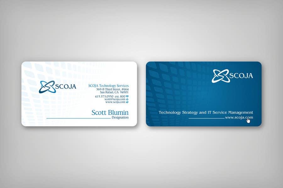 Bài tham dự cuộc thi #                                        108                                      cho                                         Business Card Design for SCOJA Technology Partners