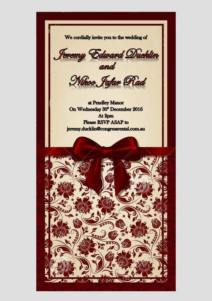 Entry #8 by majbuena for Wedding Invitation | Freelancer