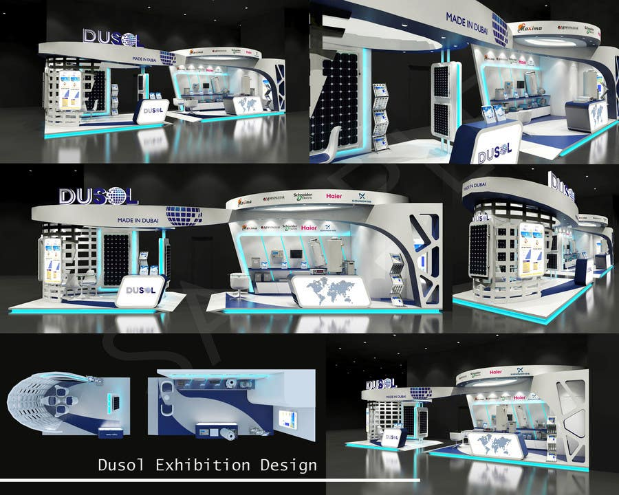 Exhibition Stand Design Competition : D design and modeling of exhibition stand freelancer
