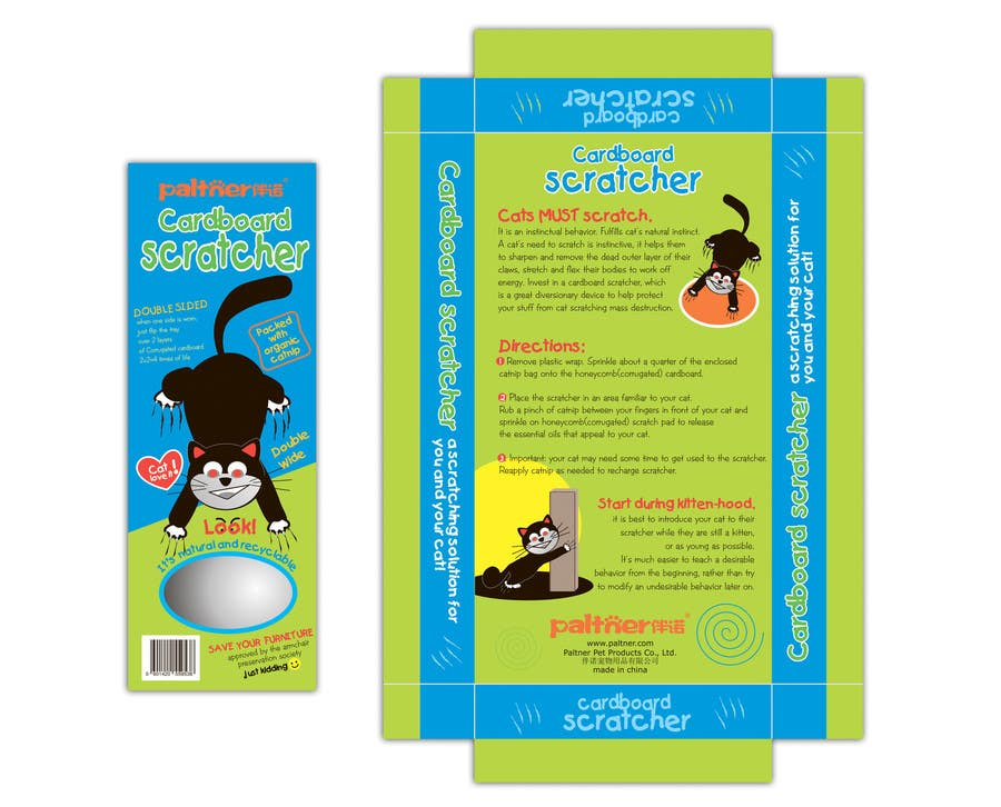 Inscrição nº 18 do Concurso para Create Print and Packaging Design-cat  scratcher box