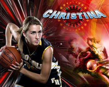 #35 para Digital background designer for sports posters. de saneshgraphic11