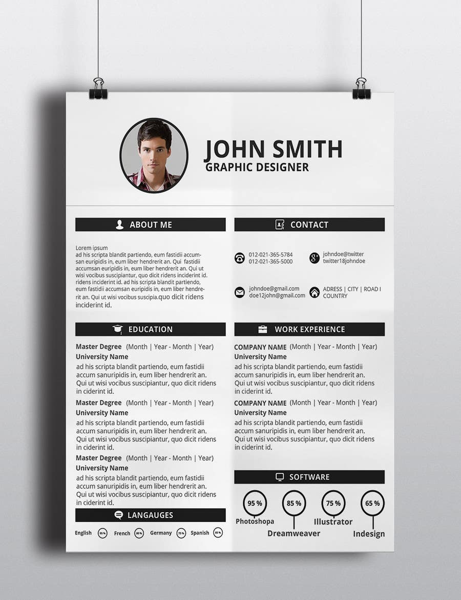 Entry #15 by mdakasabedin for New Look for My CV/Resume | Freelancer