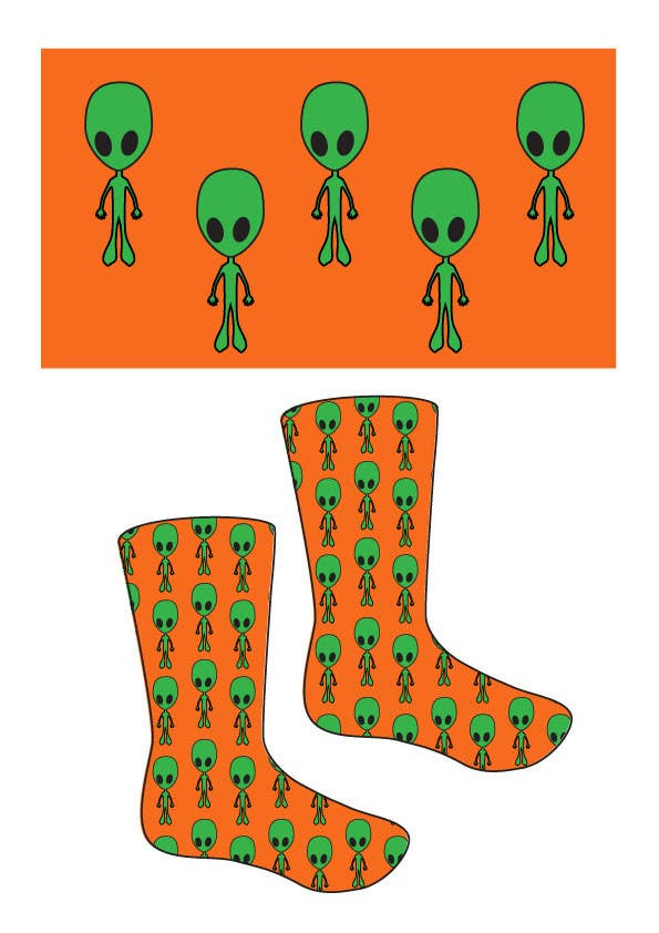 #4 for I need some Graphic Design for sock design by JosephMarinas