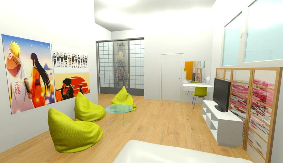 Design a teenage girl bedroom suite with japanese touch freelancer - Bedroom suites for teenage girls ...