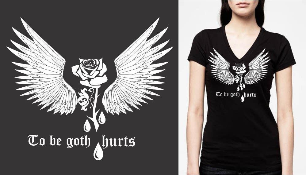 Bài tham dự cuộc thi #                                        14                                      cho                                         Goth tee design