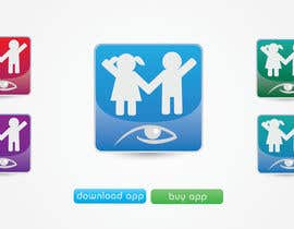 #21 for Design a Logo for our mobile app (parental control - watching kids activity ) af KiVii