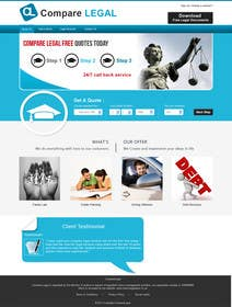 #1 for Home page design plus logo - legal site by Soniyakumar