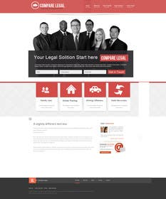 #8 for Home page design plus logo - legal site by Soniyakumar