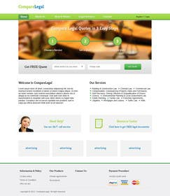 #13 for Home page design plus logo - legal site by helixnebula2010