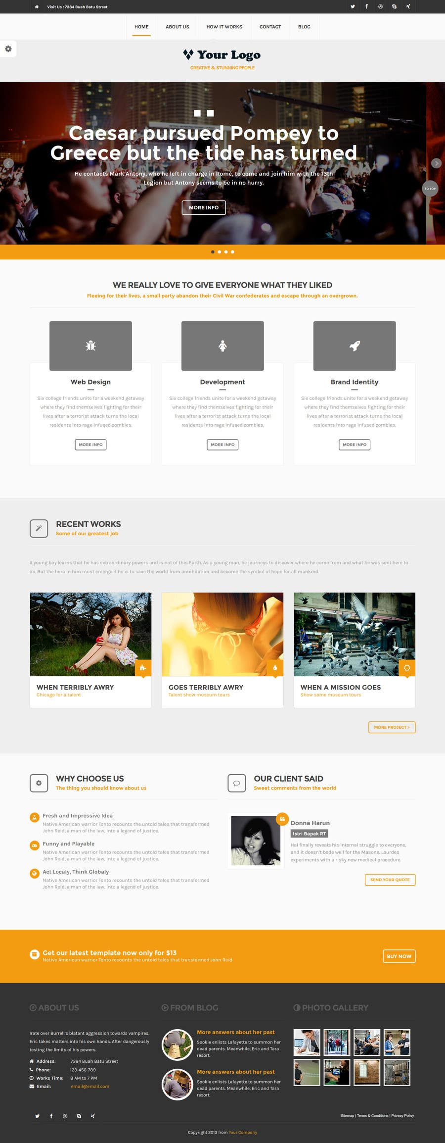 #3 for Home page design plus logo - Insurance site by Doooda