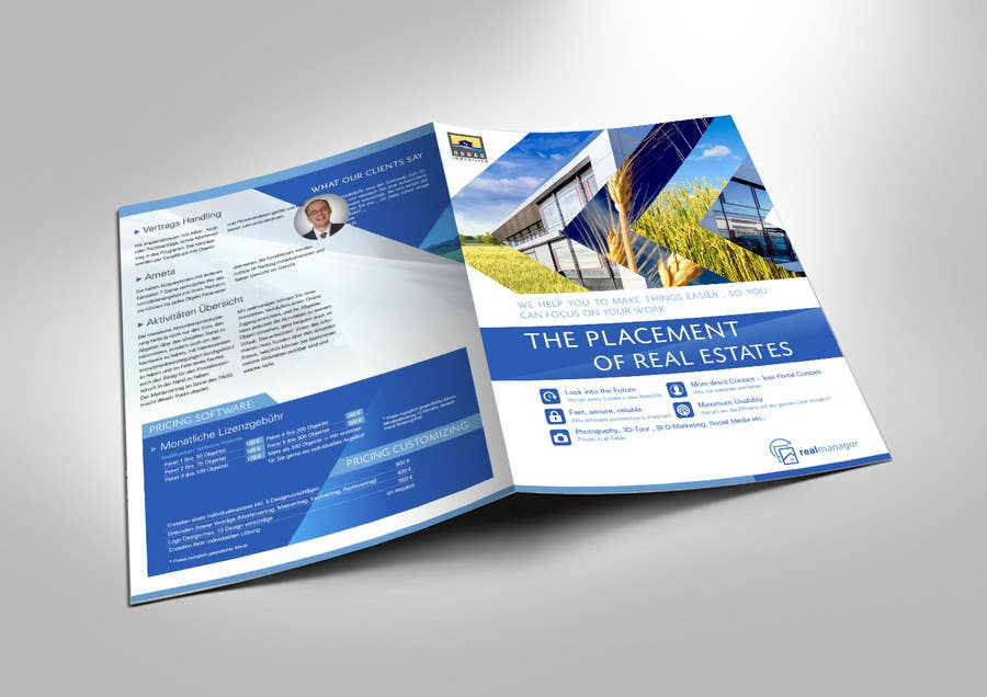 Folder design for a real estate software freelancer for Real estate design software