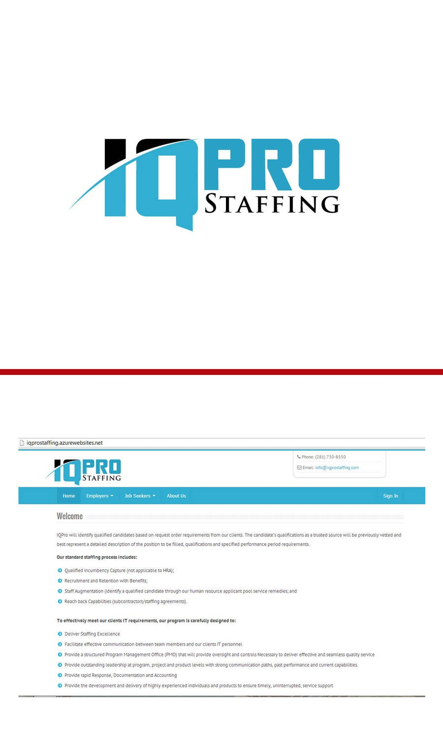 Bài tham dự cuộc thi #                                        10                                      cho                                         Develop a Corporate Identity for IQPro Staffing