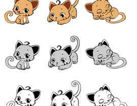 #10 untuk illustrate and design a cute cat in 3 different poses oleh thuynguyen13