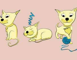 #7 untuk illustrate and design a cute cat in 3 different poses oleh polzolkwer