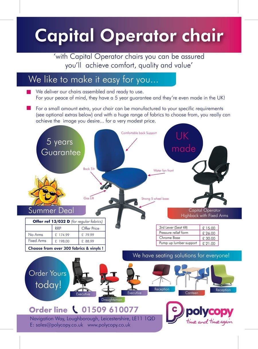 Penyertaan Peraduan #10 untuk Chair flyer A4