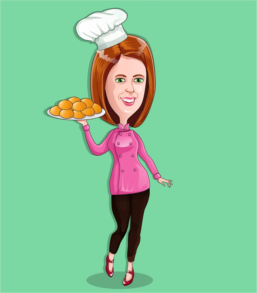 Konkurrenceindlæg #                                        34                                      for                                         Caricature of my wife for cookies