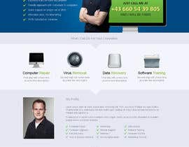 #9 para Design a single Page Website with Logo for a PC repair service por uniqueclick