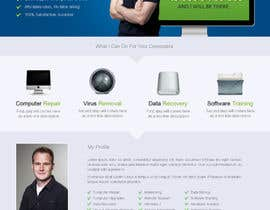 uniqueclick tarafından Design a single Page Website with Logo for a PC repair service için no 10